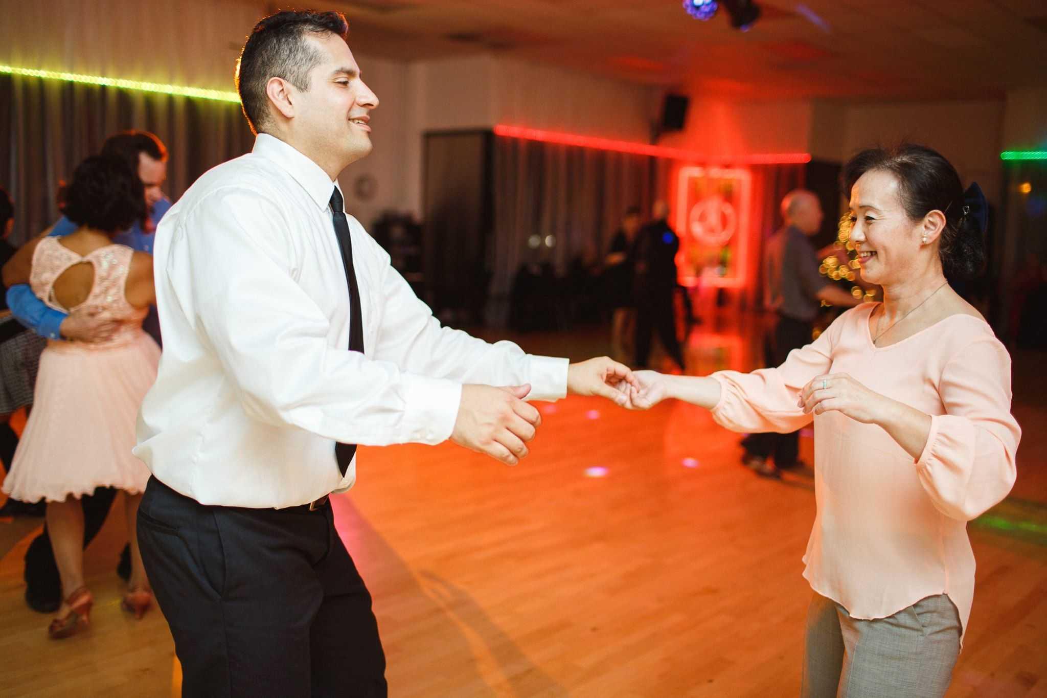 couple swing dancing