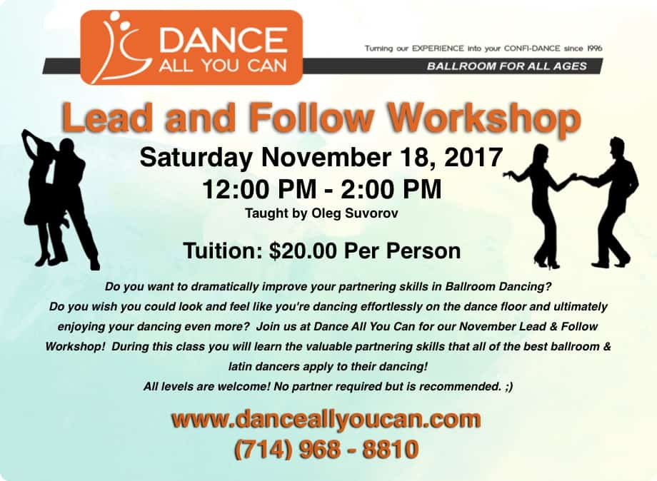Dance All You Can, Ballroom, Fountain Valley, Huntington Beach, Orange County, Dance Classes, Dance Instruction
