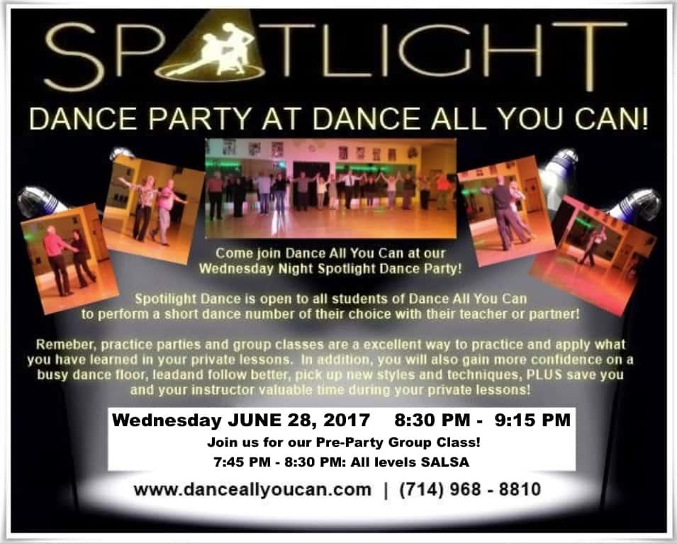 Spotlight Dance Party, Ballroom, Dance Studio, Orange County, California, Dance Show, Dance Instruction