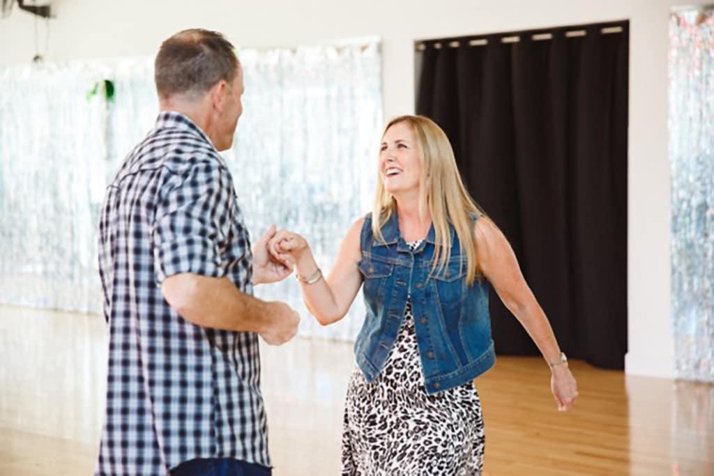 adults swing dancing