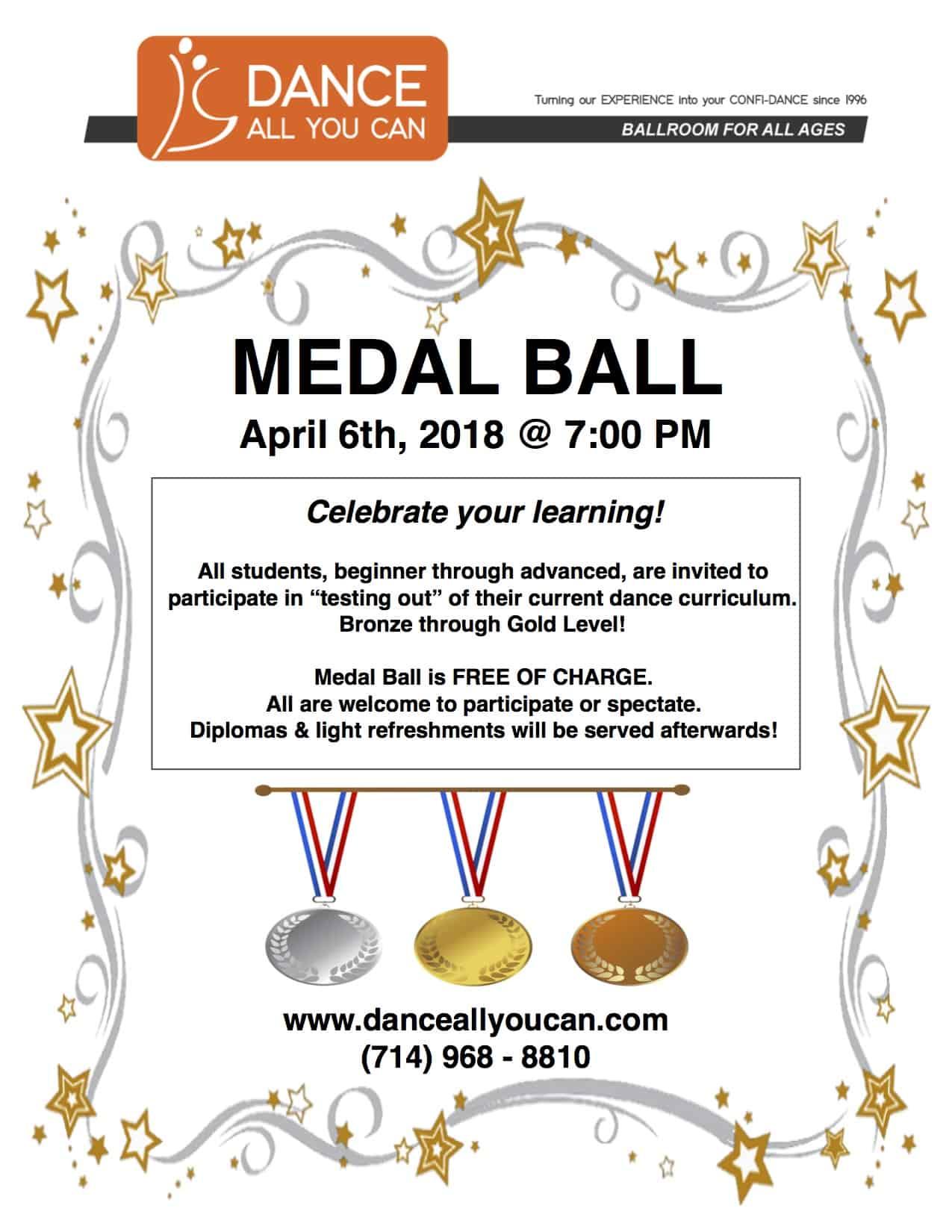 flyer for ballroom dance medal ball