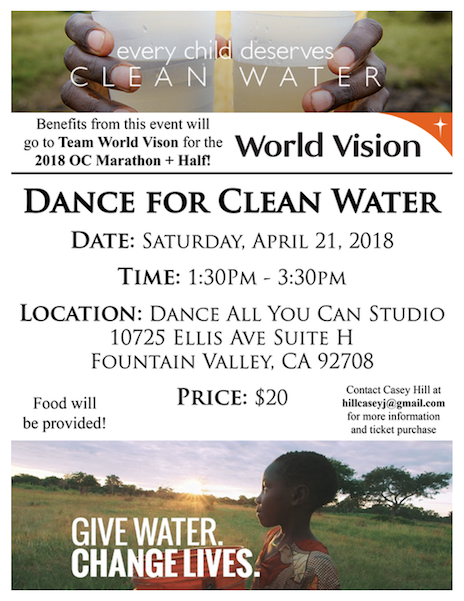 dance for clean water