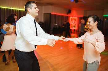 couple swing dancing